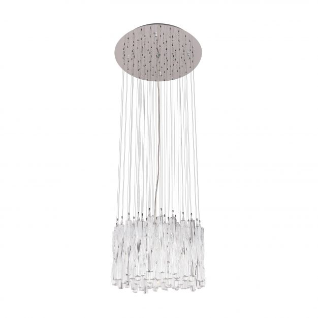 Maxlight Bilbao - hanglamp - Ø 50 x 150 cm - chroom