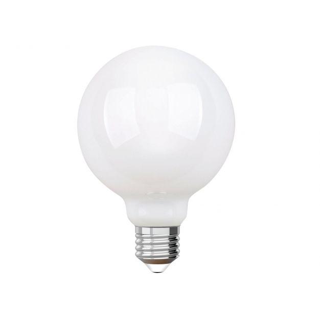 iDual LED-lamp zonder afstandsbediening - Ø 9,5 x 14 cm - E27 - 9W dimbaar - 2200K tot 6500K - melkglas
