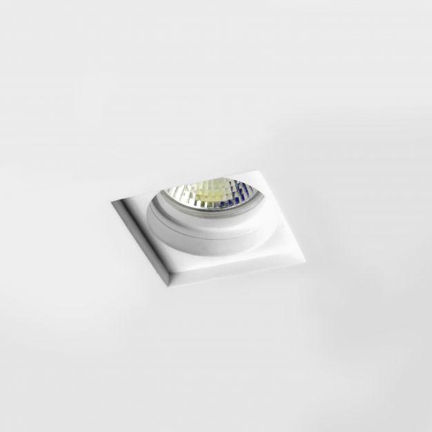 Nova Luce Tobia II - inbouwspot - 100 x 100 mm, 105 x 105 mm inbouwmaat - wit gips