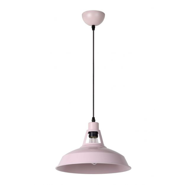 Lucide Brassy-bis - hanglamp - Ø 31 x 149 cm - roze (einde reeks)