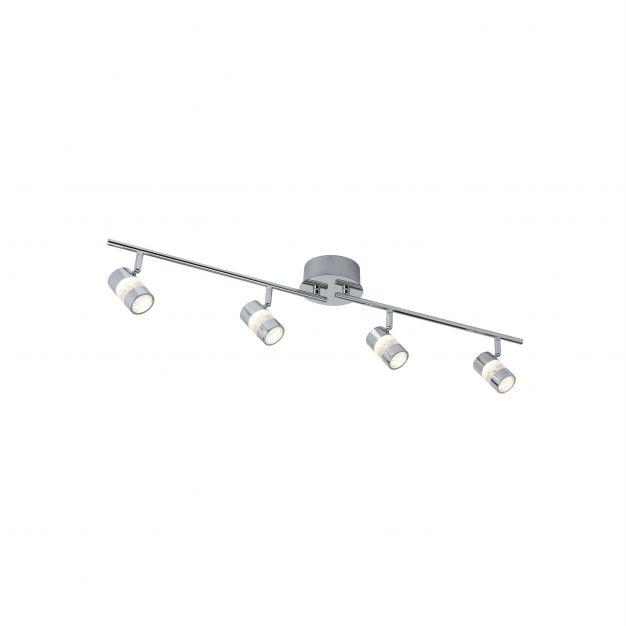 Searchlight Bubbles - opbouwspot 4L - 90 x 13 x 16,8 cm - 4 x 4,5W dimbare LED incl. - IP44 - chroom