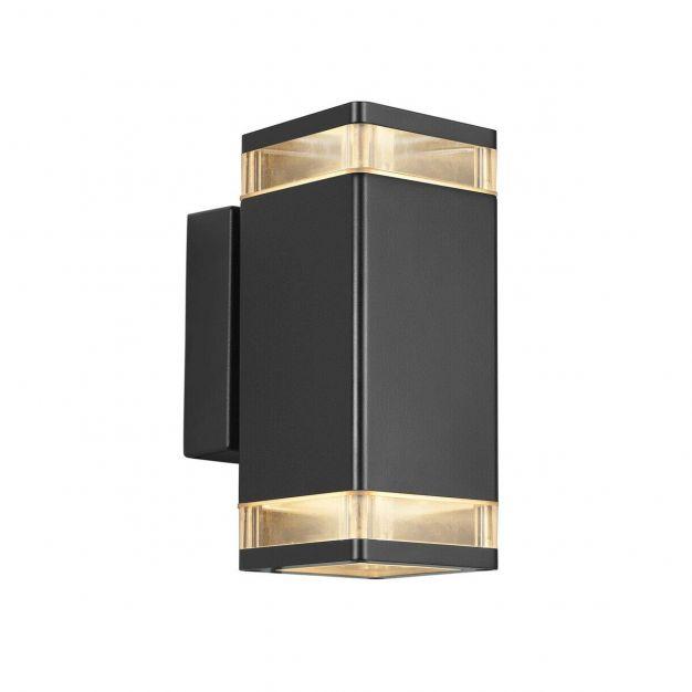 Nordlux Elm - buiten wandverlichting - 9 x 23,4 x 13 cm - IP44 - zwart