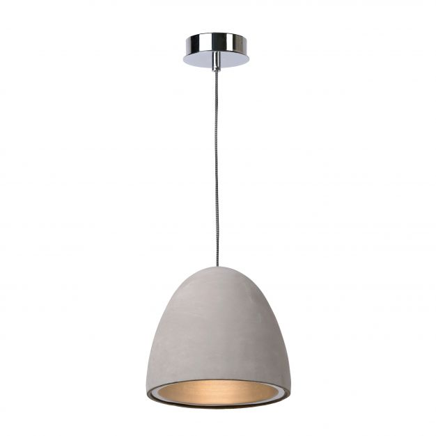 Lucide Solo - hanglamp - Ø 21 x 115 cm - taupe