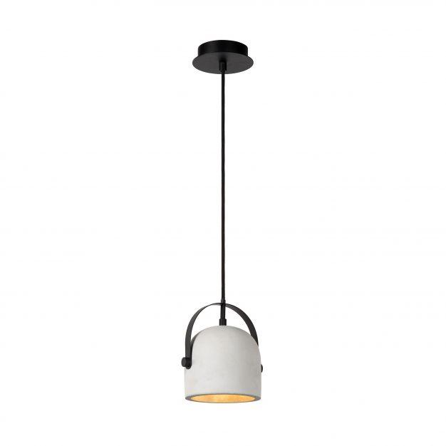 Lucide Molio - hanglamp - Ø 14 x 144 cm - wit en zwart (laatste exemplaar)