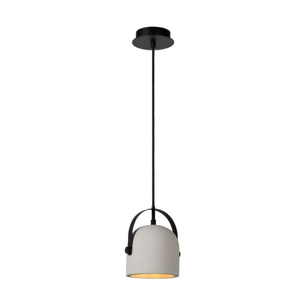 Lucide Molio - hanglamp - Ø 14 x 144 cm - taupe en zwart