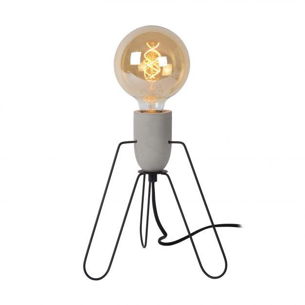 Lucide Semih - tafellamp - 26 cm - zwart en grijs