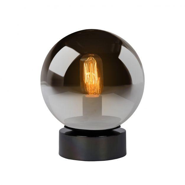 Lucide Jorit - tafellamp - 24 cm - gerookt glas