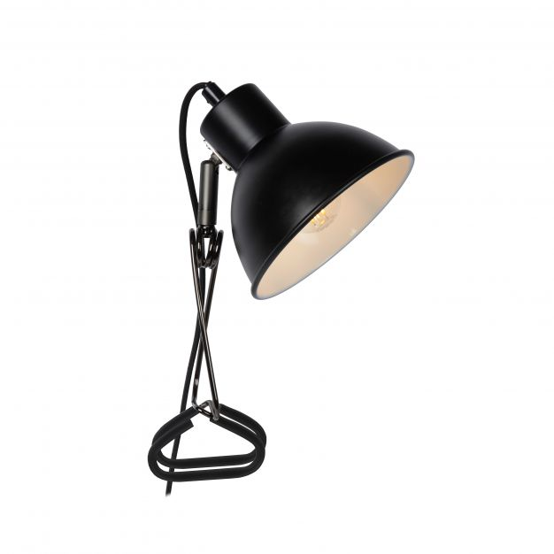 Lucide Moys - klemlamp - 32,5 x 14 x 12,7 cm - zwart