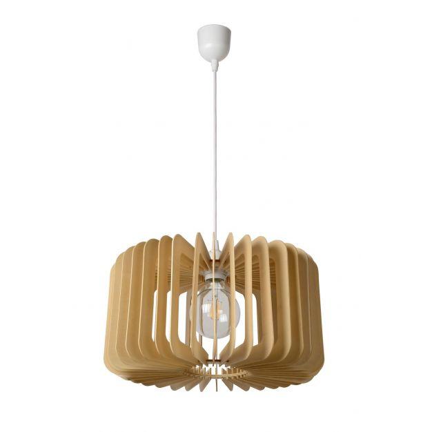Lucide Etta - hanglamp - Ø 39 x 152 cm - licht hout