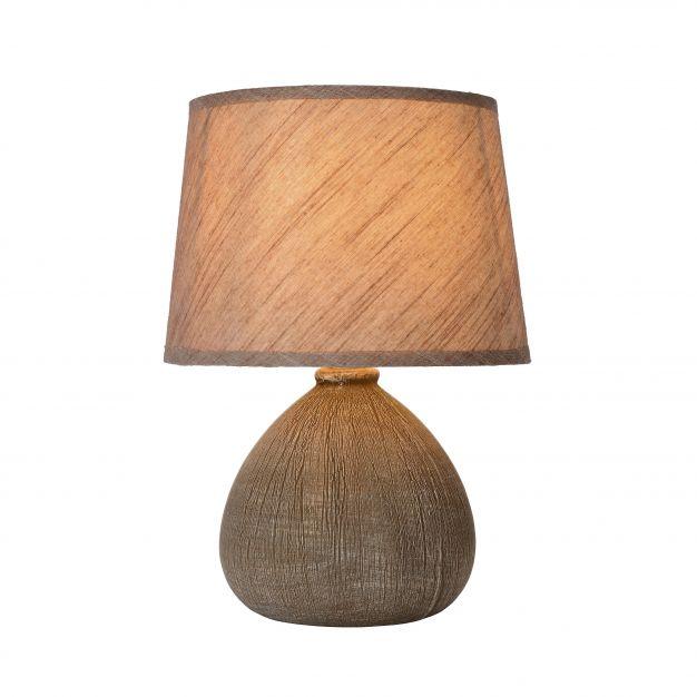 Lucide Ramzi - tafellamp - 26 cm - bruin