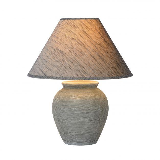 Lucide Ramzi - tafellamp - 42 cm - grijs