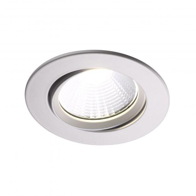 Nordlux Fremont - inbouwspot - Ø 85 mm, Ø 72 mm inbouwmaat - 5,5W dimbare LED incl. - IP23 - wit