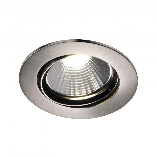 Nordlux Fremont - inbouwspot - Ø 85 mm, Ø 72 mm inbouwmaat - 5,5W dimbare LED incl. - IP23 - geborsteld staal