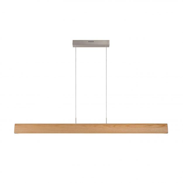 Lucide Sytze - hanglamp - 3 x 125 x 150 cm - 32W dimbare LED incl. - licht bruin en mat chroom