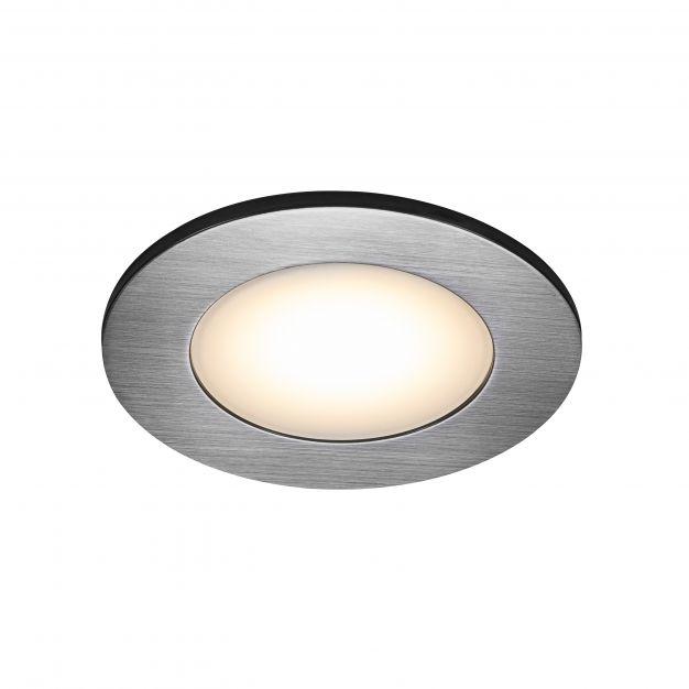 Nordlux Leonis - set van 3 - Ø 85 mm, Ø 68 mm inbouwmaat - 4,5W LED incl. - IP65 - nikkel
