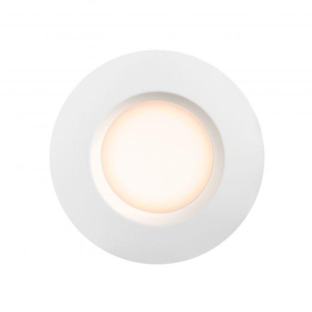 Nordlux Tiaki - inbouwspot - Ø 85 mm, Ø 72 mm inbouwmaat - 2 stappen dimmer - 5,7-8,6W LED incl. - IP65 - wit