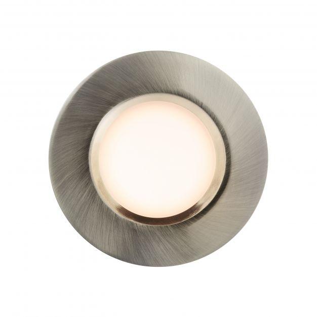 Nordlux Tiaki - inbouwspot - Ø 85 mm, Ø 72 mm inbouwmaat - 2 stappen Moodmaker functie - 5,7-8,6W dimbare LED incl. - IP65 - nikkel