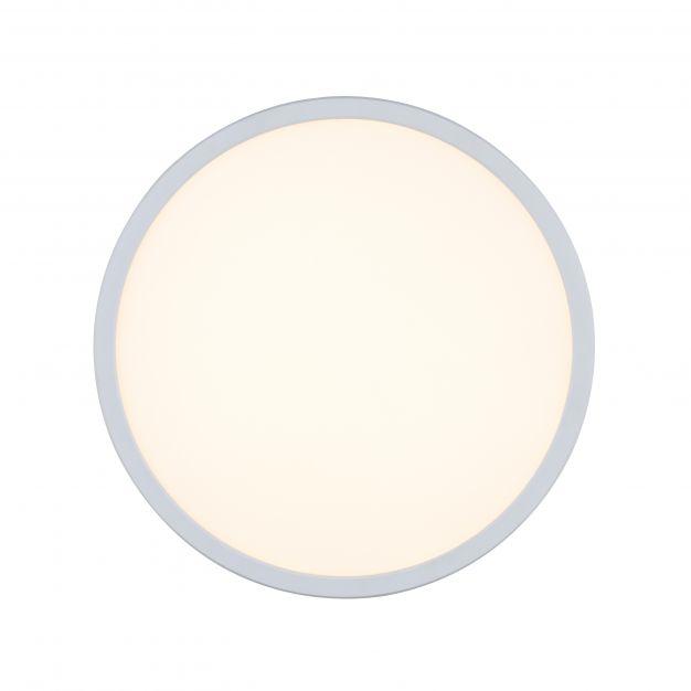 Nordlux Oja - badkamer plafondverlichting - Ø 29,4 x 2,3 cm - 18W LED incl. - IP54 - wit