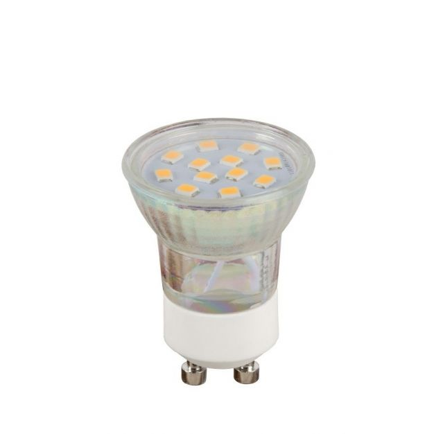 Lucide LED-spot - Ø 3,5 x 4,9 cm - GU10 (mini) - 2W niet dimbaar - 2700K - transparant