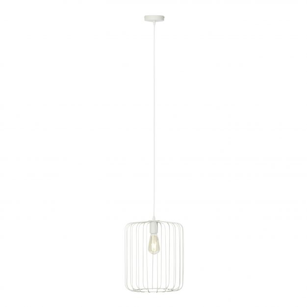 Brilliant Flavian - hanglamp - 31 x 142 cm - wit