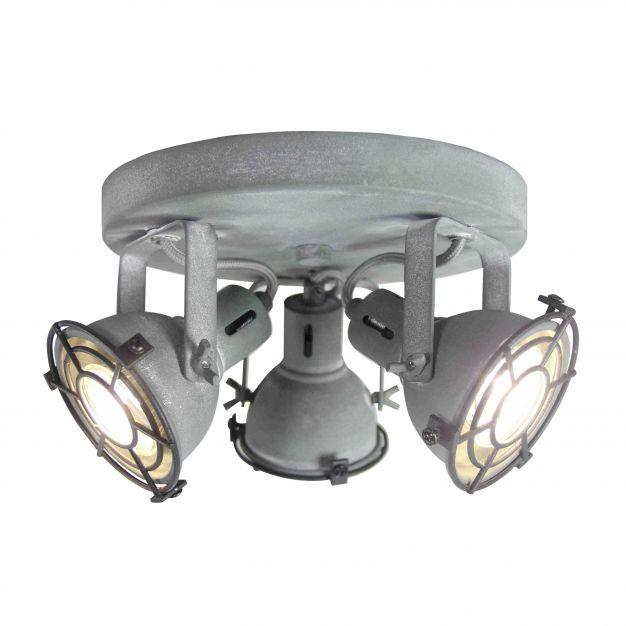Brilliant Jesper - opbouwspot 3L - Ø 24 x 17 cm - 3 x 4W LED incl. - betongrijs