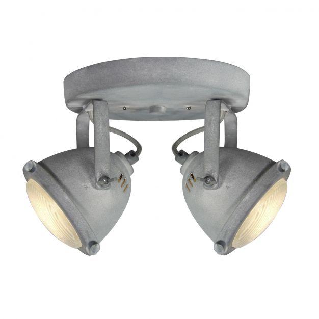 Brilliant Carmen - opbouwspot 2L - Ø 28 x 18,5 cm - 2 x 4W LED incl. - betongrijs