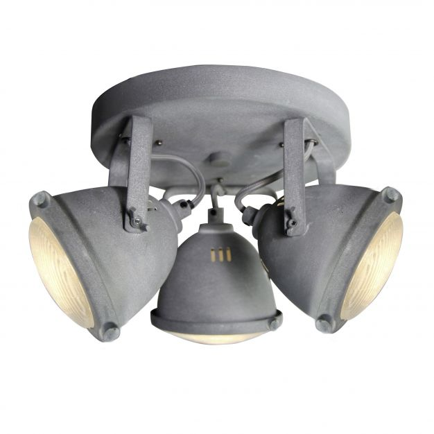 Brilliant Carmen - opbouwspot 3L - Ø 28 x 18,5 cm - 3 x 4W LED incl. - betongrijs