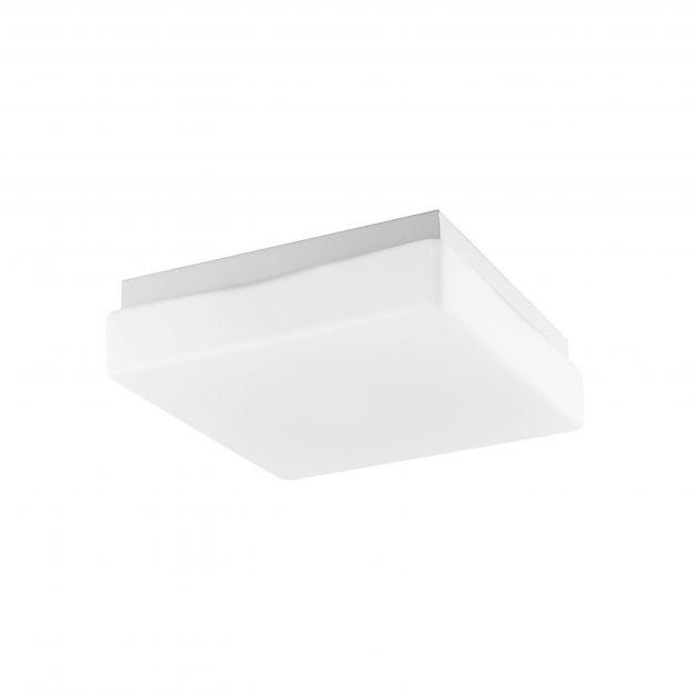 Nova Luce Cube - plafondlamp badkamer - 20,5 x 20,5 x 7 cm - IP44 - wit