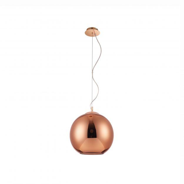 Nova Luce Argento - hanglamp - Ø 40 x 140 cm - koper