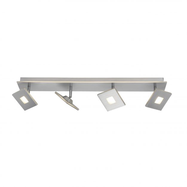 Brilliant Extro - opbouwspot 4L - 70 cm - 3 stappen dimmer - 4 x 5W + 10W LED incl. - aluminium