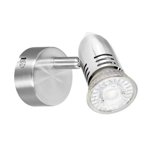 Energetic Milano - opbouwspot 1L - 6 x 13 x 6 cm - 5W dimbare LED incl - geborsteld nikkel (einde reeks)