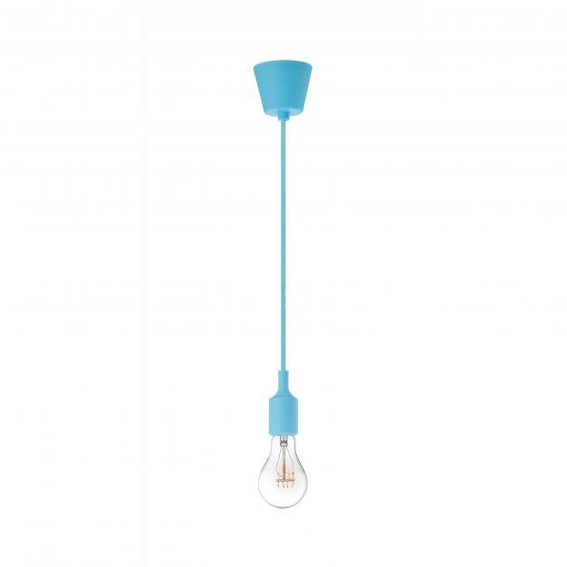 Nova Luce Swing - hanglamp - Ø 4,5 x 100 cm - hemelsblauw