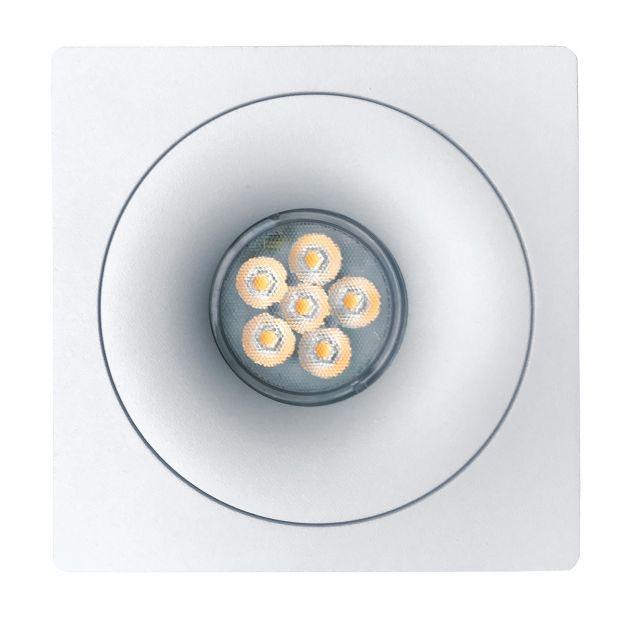 Nova Luce Ottavia-C - inbouwspot - 100 x 100 mm, Ø 75 mm inbouwmaat - wit