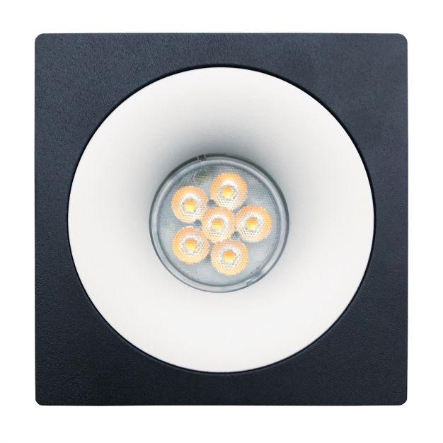 Nova Luce Ottavia-C - inbouwspot - 100 x 100 mm, Ø 75 mm inbouwmaat - zwart en wit