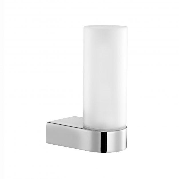 Nova Luce Polo - wandverlichting - 5,5 x 11,4 x 16,8 cm - 40W halogeen incl. - IP44 - chroom