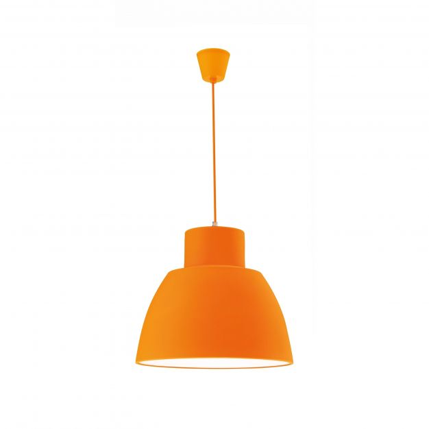 Nova Luce Vince - hanglamp - Ø 40 x 130 cm - oranje