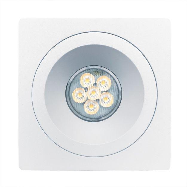 Nova Luce Raena-Cid - inbouwspot - 100 x 100 mm, Ø 75 mm inbouwmaat - wit