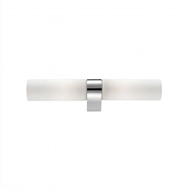 Nova Luce Polo - wandverlichting - 39,5 x 5,5 x 5 cm - IP44 - wit en chroom
