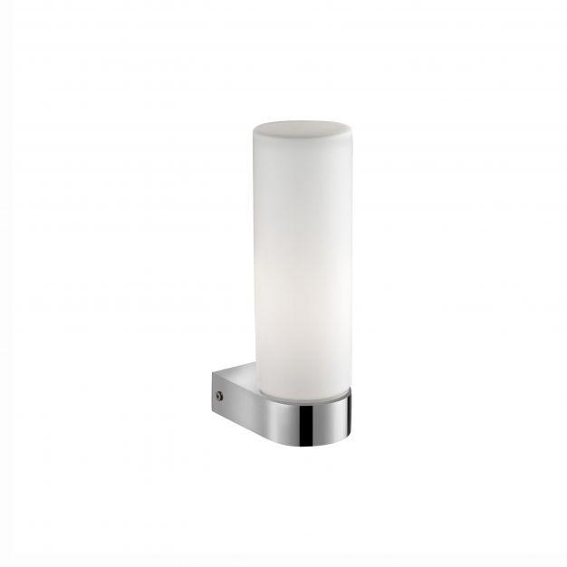 Nova Luce Polo - wandverlichting - 7,5 x 5 x 21,5 cm - IP44 - chroom