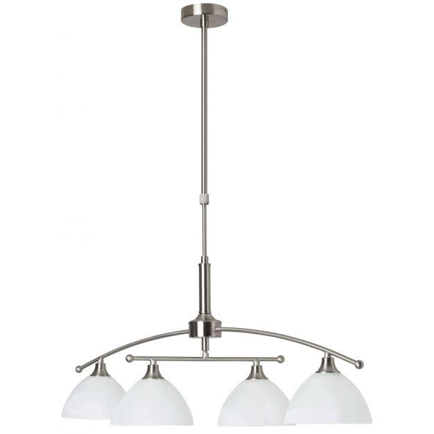 Brilliant Enze - hanglamp - 90 x 40 x 11 cm - satijn chroom