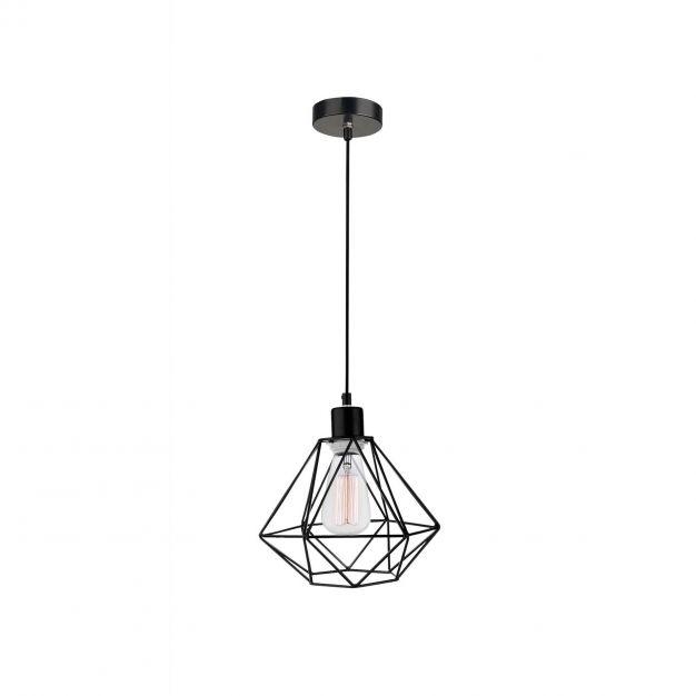 Nova Luce Pietra - hanglamp - Ø 20 x 120 cm - zwart