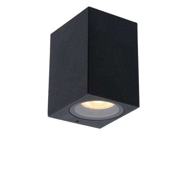 Lucide Zaro - buiten wandlamp - 7,8 x 6,8 x 10 cm - IP44 - zwart
