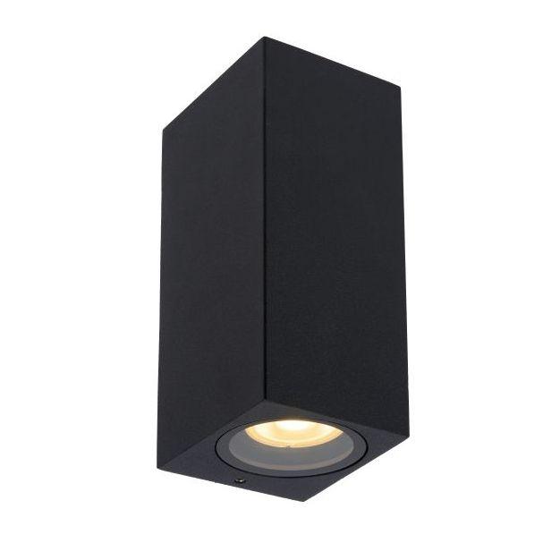 Lucide Zaro - buiten wandlamp - 7,8 x 6,8 x 16 cm - IP44 - zwart