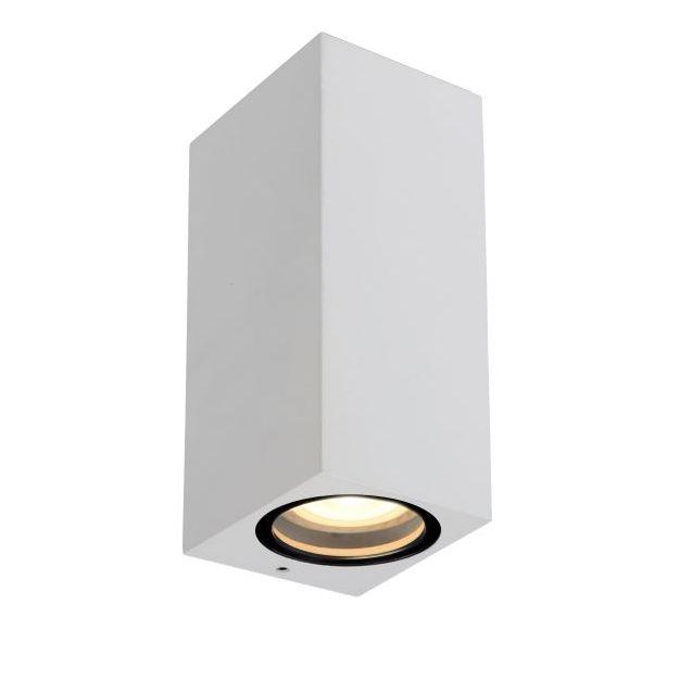Lucide Zaro - buiten wandlamp - 7,8 x 6,8 x 16 cm - IP44 - wit