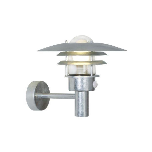 Nordlux Lønstrup 32 Sensor - buiten wandverlichting met bewegingsdetector - 32 x 28,5 x 36 cm - IP44 - gegalvaniseerd staal