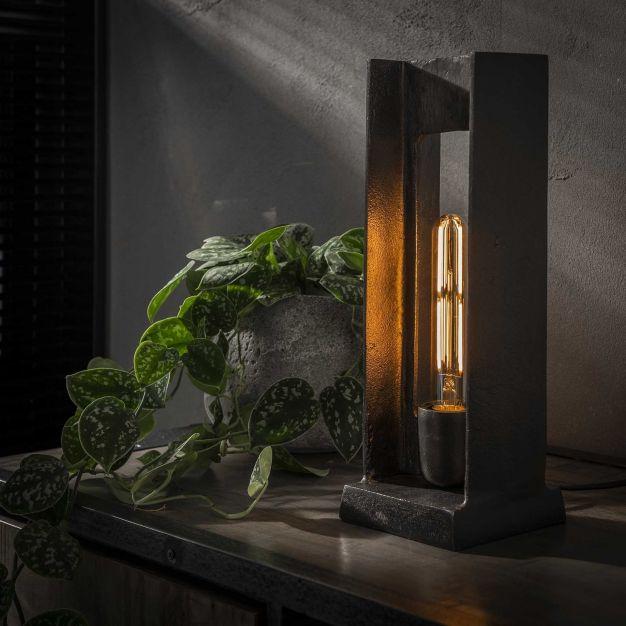 Vico H Frame - tafellamp -Ø 13 x 37 cm - zwart nikkel