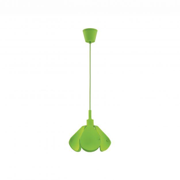 Nova Luce Udine - hanglamp - Ø 25 x 100 cm - groen