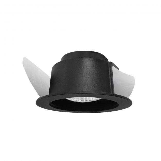 Nova Luce Mio - inbouwspot  - Ø 95 mm, Ø 90 mm inbouwmaat - IP44 - zwart