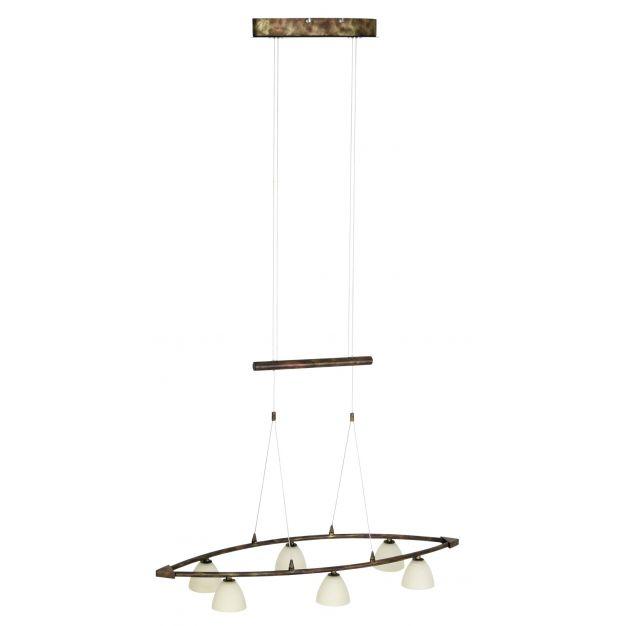 Los Angeles hanglamp 6 - oud koper