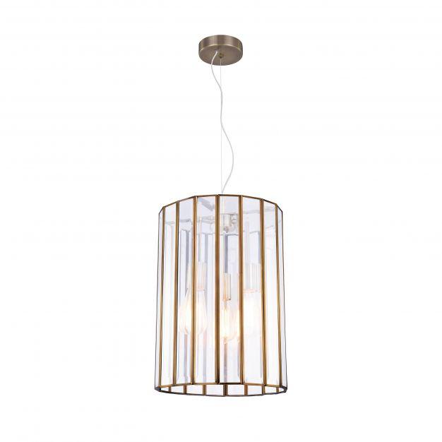 Nova Luce Celso - hanglamp - Ø 42 x 130 cm - antiek metaal